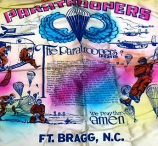 Paratrooper souvenir pillow cover Fort Bragg
