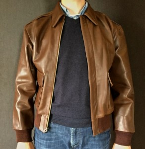 Reproduction horsehide A2 flight jacket - Paratrooper.be