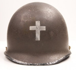 Fixed bale M1 Chaplain's helmet