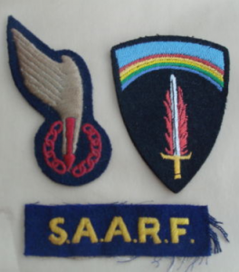 SAARF jump wing, cuff title and SHAEF patch