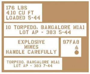 bangalore torpedo replica stencil